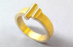 Vermaakte ring van oud goud in opdracht (Small)